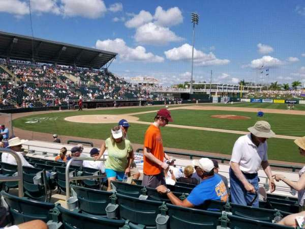 Hammond Stadium at CenturyLink Sports Complex, sección: 103, fila: 10, asiento: 17
