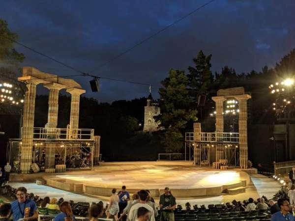 The Delacorte Theater in Central Park, sección: L, fila: L, asiento: 708