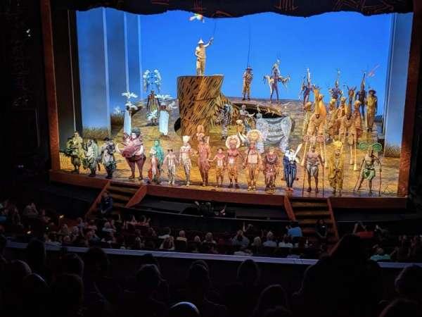 Minskoff Theatre, sección: Mezzanine, fila: G, asiento: 137