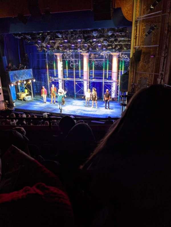 Longacre Theatre, sección: Mezzanine R, fila: D, asiento: 11