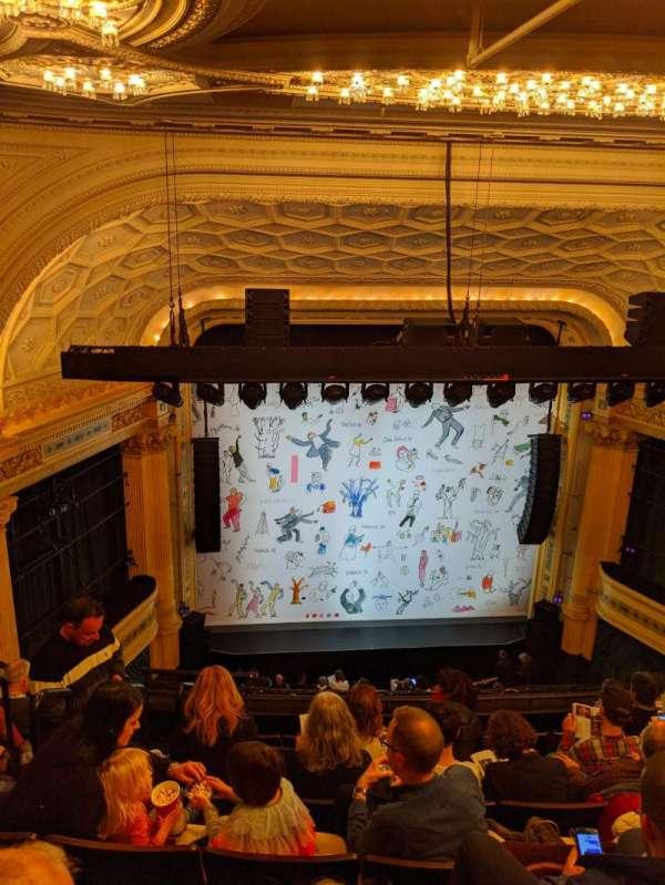Hudson Theatre, sección: Balcony C, fila: H, asiento: 104