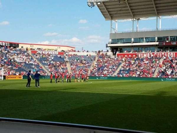 SeatGeek Stadium, sección: 108, fila: 1, asiento: 20