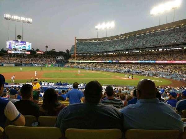 Dodger Stadium, sección: 19FD, fila: U, asiento: 4