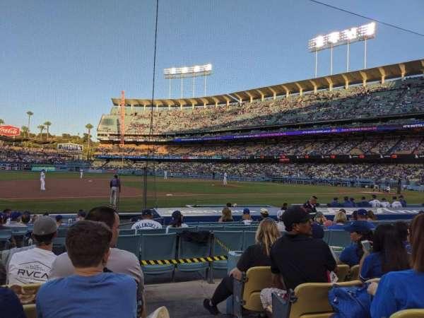 Dodger Stadium, sección: 27FD, fila: E, asiento: 1