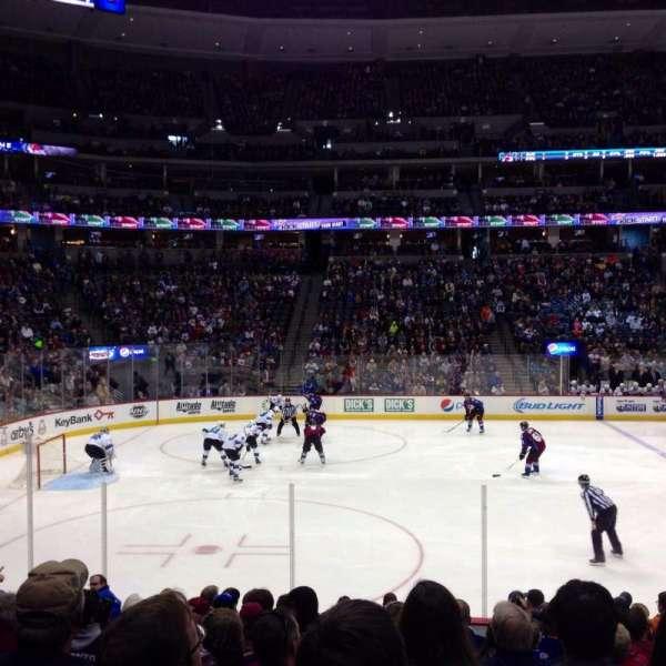 Pepsi Center, sección: 128, fila: 13, asiento: 9