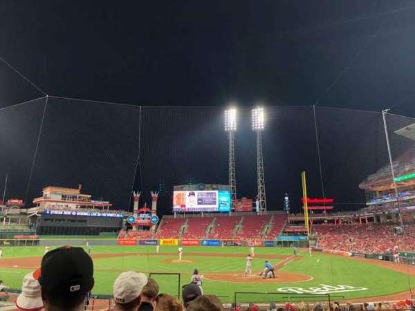 Great American Ball Park, sección: 120, fila: R, asiento: 1
