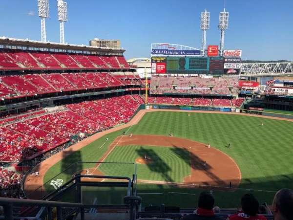 Great American Ball Park, sección: 530, fila: F, asiento: 20
