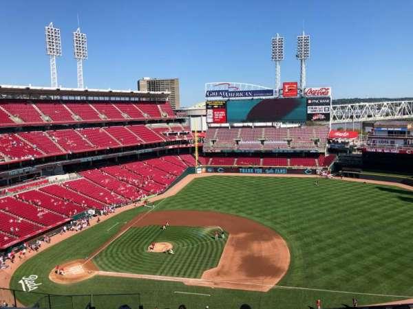 Great American Ball Park, sección: 531, fila: H, asiento: 14