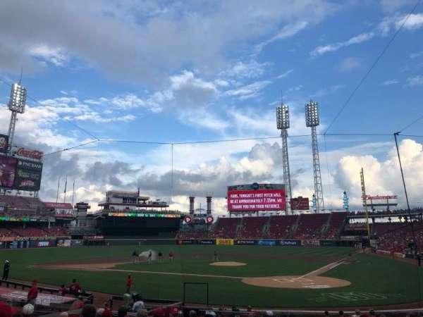Great American Ball Park, sección: 121, fila: V, asiento: 13