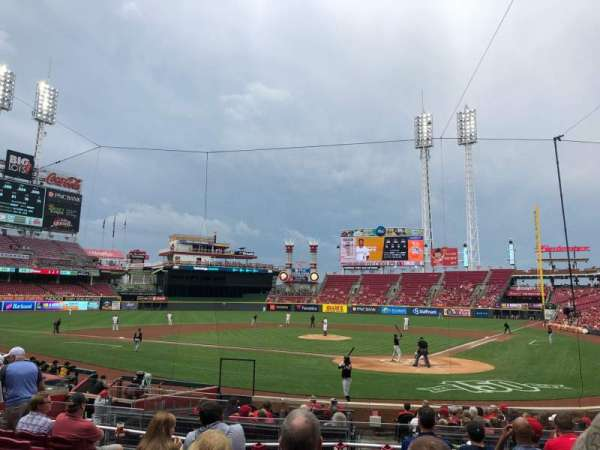 Great American Ball Park, sección: 121, fila: T, asiento: 9