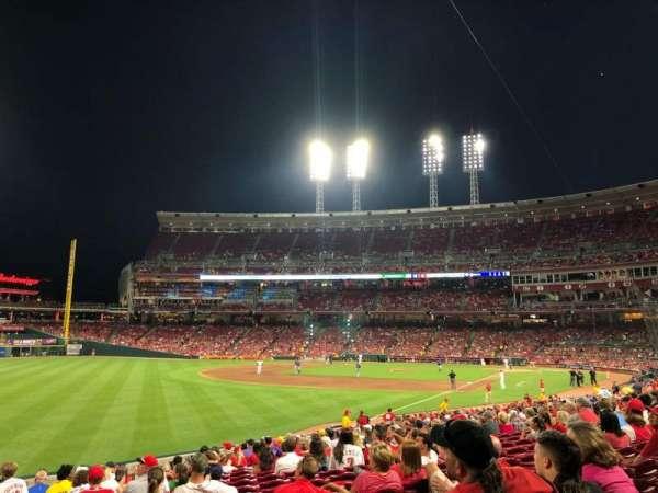 Great American Ball Park, sección: 110, fila: EE, asiento: 12
