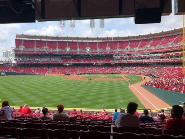 Great American Ball Park, sección: 105, fila: P, asiento: 4