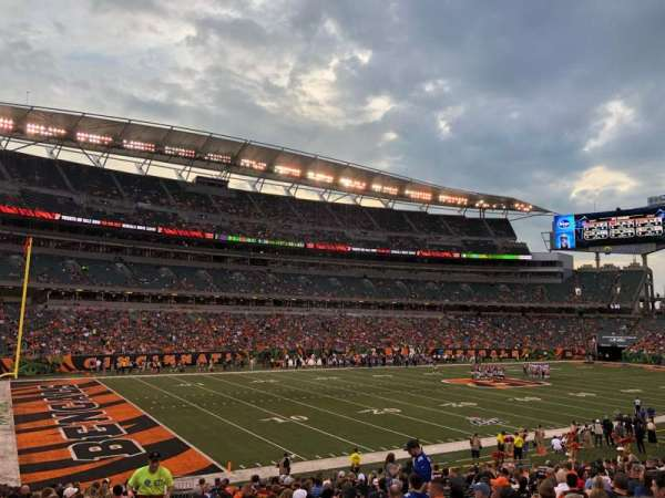Paul Brown Stadium, sección: 146, fila: 23, asiento: 23