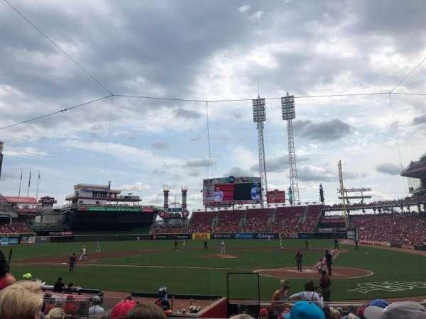Great American Ball Park, sección: 120, fila: R, asiento: 5