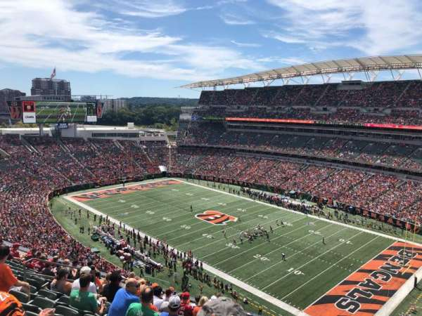 Paul Brown Stadium, sección: 334, fila: 12, asiento: 10
