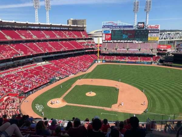 Great American Ball Park, sección: 530, fila: F, asiento: 8