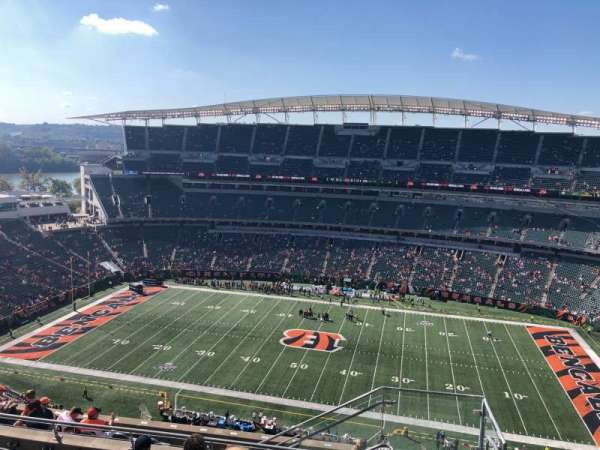 Paul Brown Stadium, sección: 338, fila: 19, asiento: 1