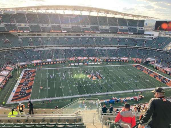 Paul Brown Stadium, sección: 343, fila: 22, asiento: 2