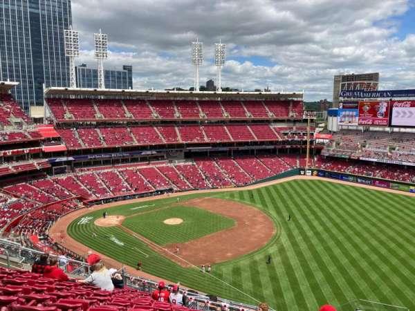 Great American Ball Park, sección: 535, fila: L, asiento: 1