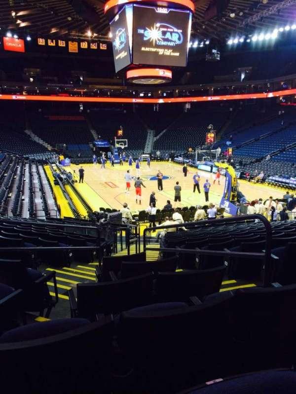 Oracle Arena, sección: 109, fila: 15, asiento: 3