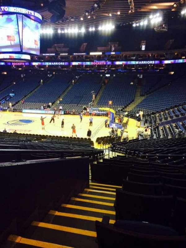 Oracle Arena, sección: 112, fila: 23, asiento: 8