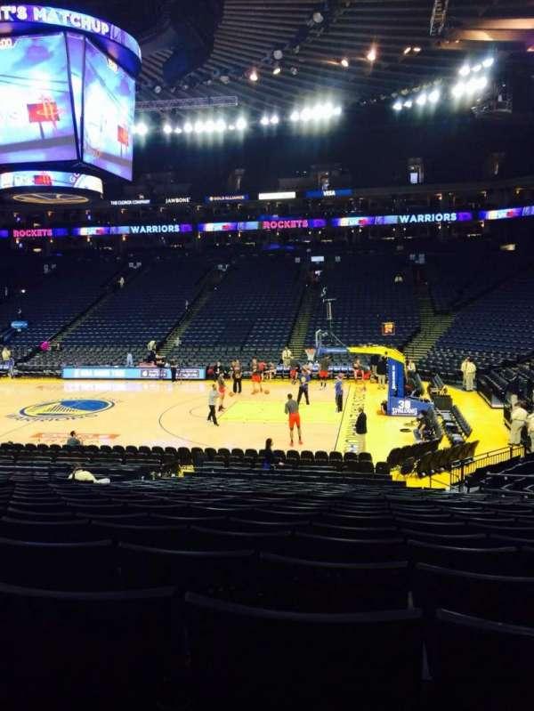 Oracle Arena, sección: 113, fila: 16, asiento: 5