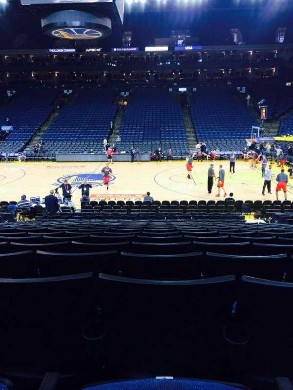 Oracle Arena, sección: 114, fila: 13, asiento: 7