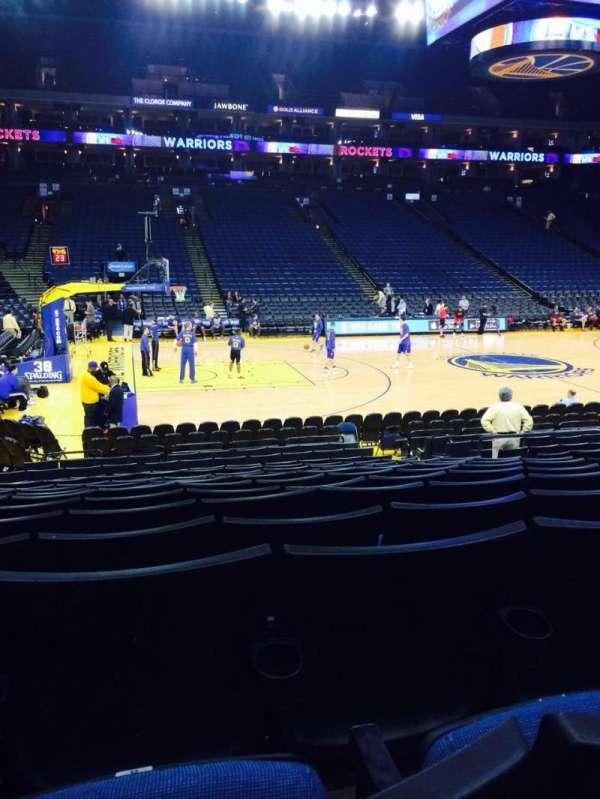 Oracle Arena, sección: 116, fila: 10, asiento: 8