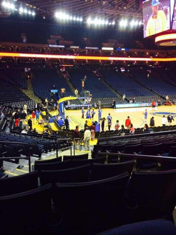 Oracle Arena, sección: 117, fila: 14, asiento: 3