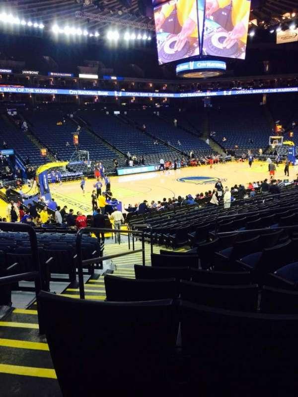 Oracle Arena, sección: 118, fila: 12, asiento: 4