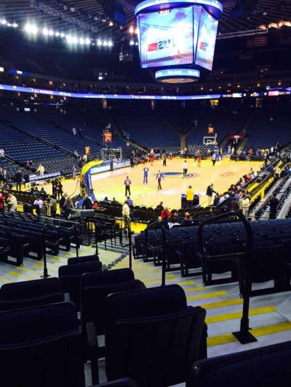 Oracle Arena, sección: 120, fila: 16, asiento: 2