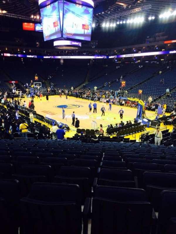 Oracle Arena, sección: 125, fila: 18, asiento: 10