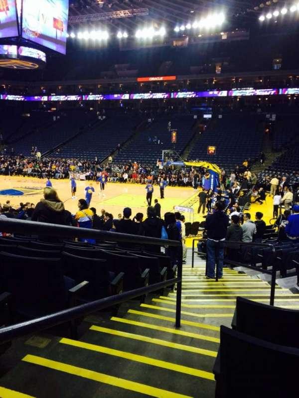 Oracle Arena, sección: 126, fila: 12, asiento: 4