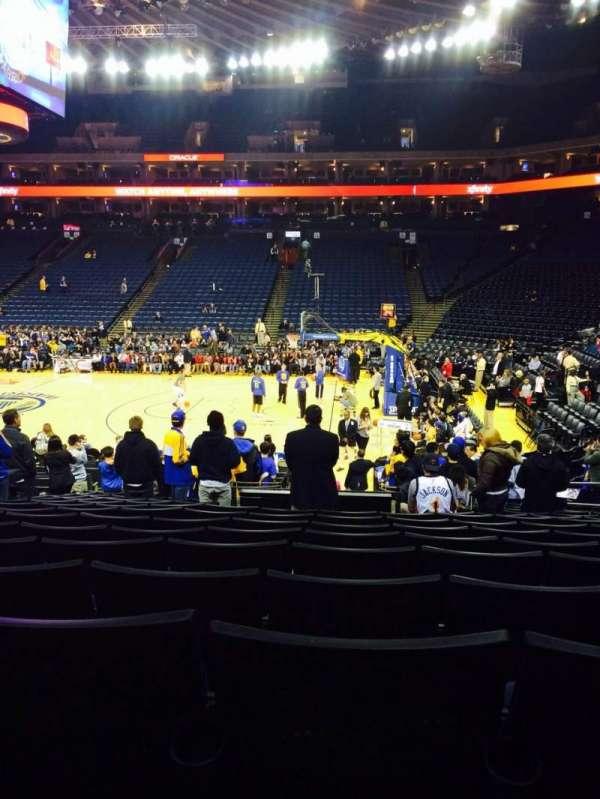 Oracle Arena, sección: 127, fila: 15, asiento: 8