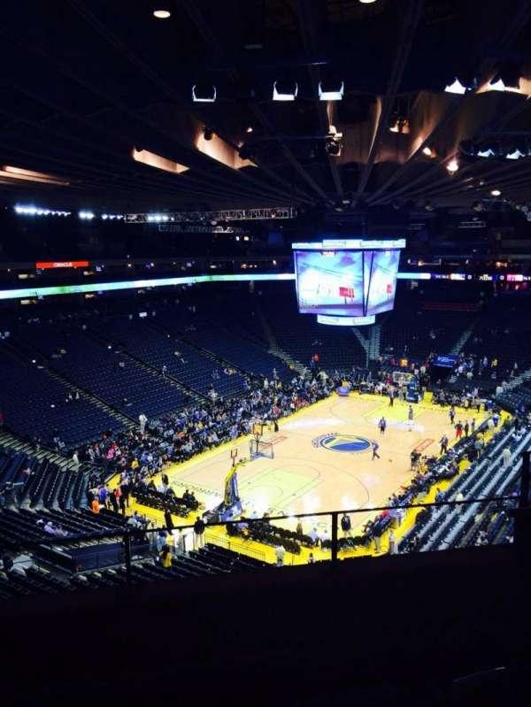 Oracle Arena, sección: 206, fila: 2, asiento: 3