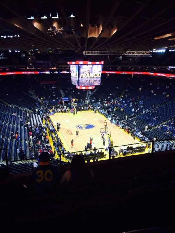 Oracle Arena, sección: 210, fila: 5, asiento: 4