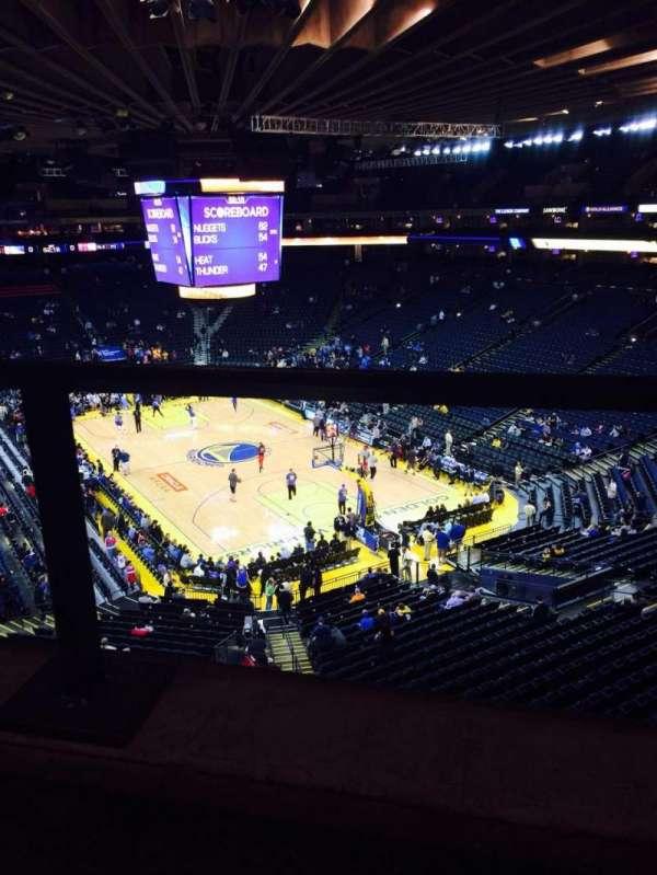 Oracle Arena, sección: 211, fila: 1, asiento: 5