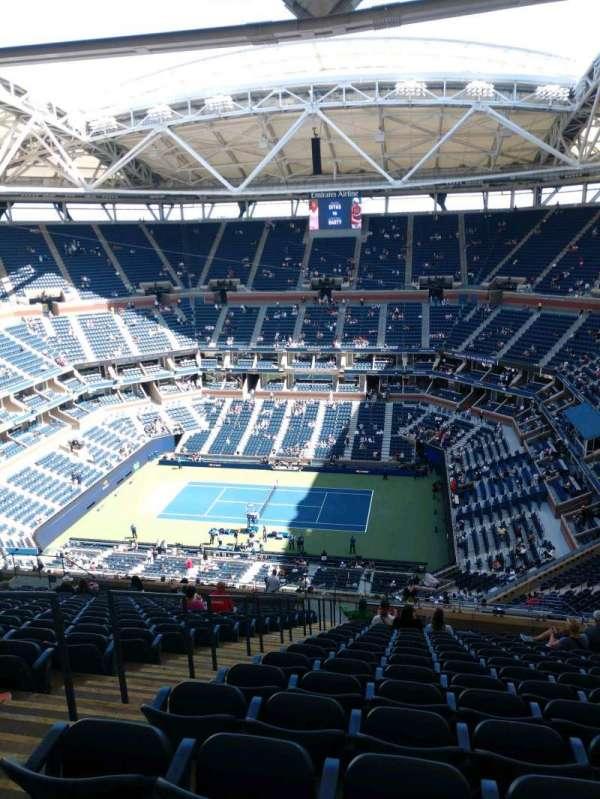 Arthur Ashe Stadium, sección: 333, fila: T, asiento: 16