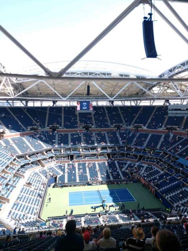 Arthur Ashe Stadium, sección: 330, fila: Y, asiento: 13