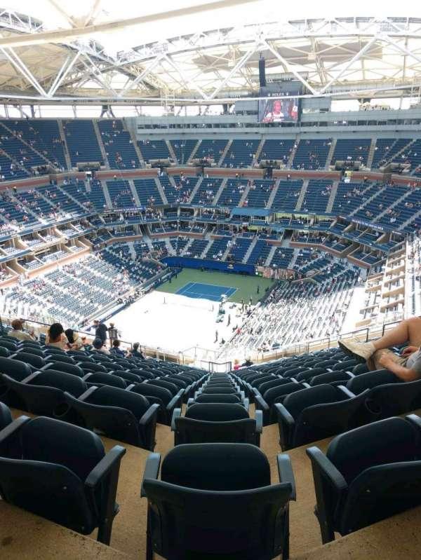 Arthur Ashe Stadium, sección: 324, fila: W, asiento: 15