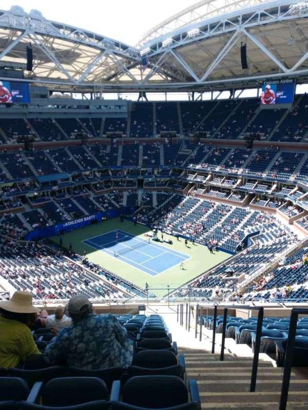 Arthur Ashe Stadium, sección: 316, fila: O, asiento: 1