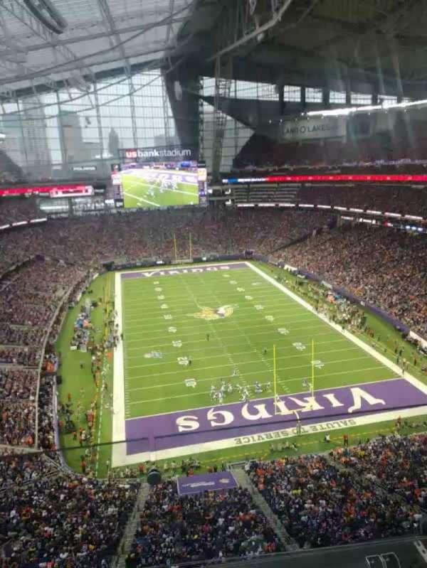 U.S. Bank Stadium, sección: 328, fila: 2, asiento: 18