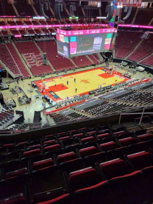 Toyota Center, sección: 430, fila: 7, asiento: 7