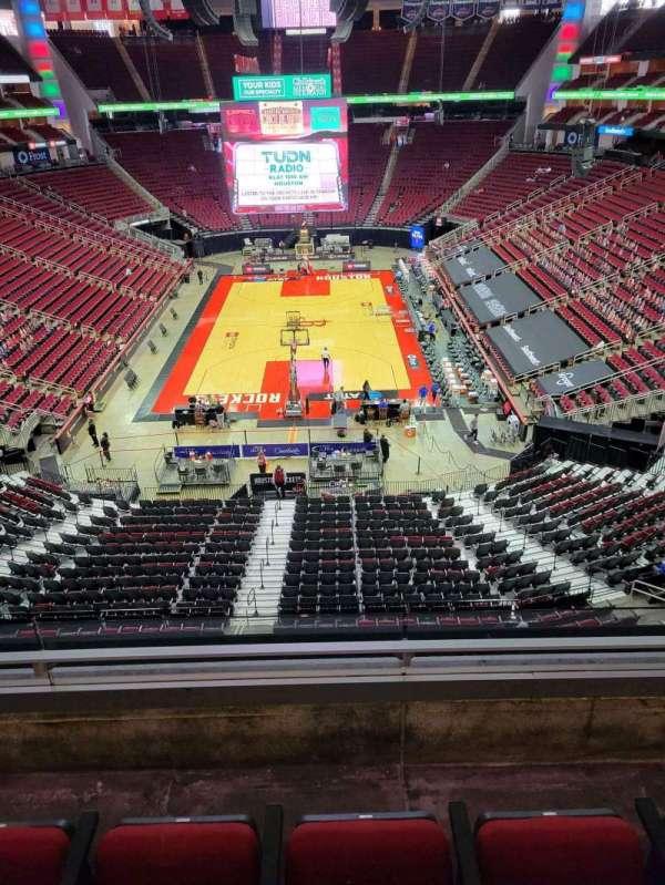 Toyota Center, sección: 401, fila: 3, asiento: 3