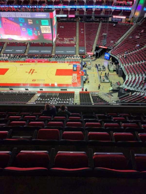 Toyota Center, sección: 408, fila: 7, asiento: 6