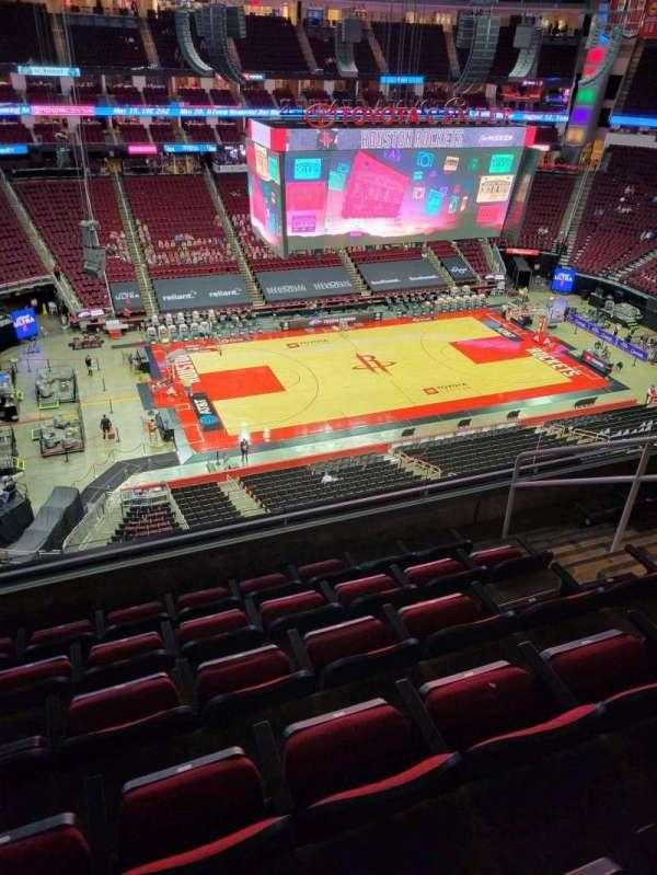 Toyota Center, sección: 412, fila: 6, asiento: 6