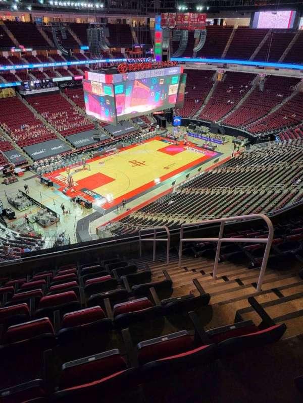 Toyota Center, sección: 414, fila: 9, asiento: 3
