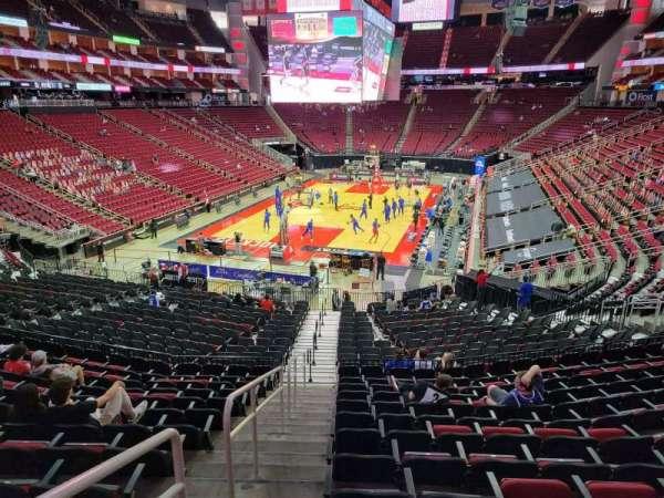Toyota Center, sección: 125, fila: 26, asiento: 28