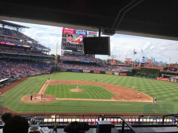 Citizens Bank Park, sección: Suite 43, fila: 2, asiento: 3