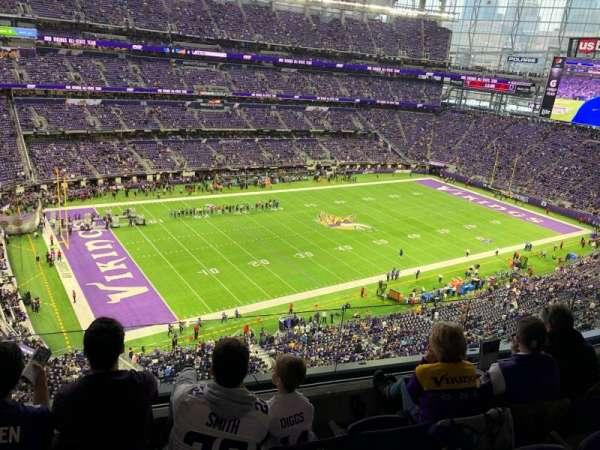 U.S. Bank Stadium, sección: 317, fila: D, asiento: 11